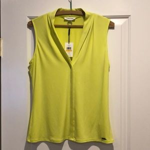 Small Citron sleeveless blouse by Calvin Klein